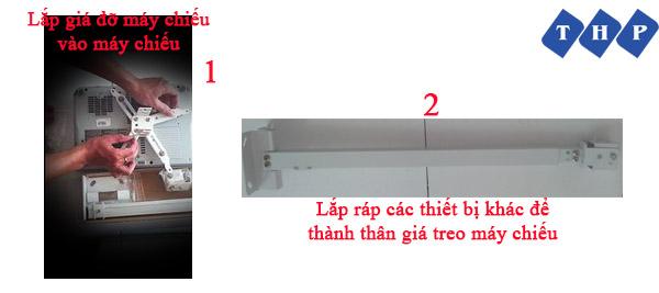 cách lắp đặt máy chiếu treo trần