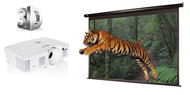 Optoma EH341 trình chiếu 3D