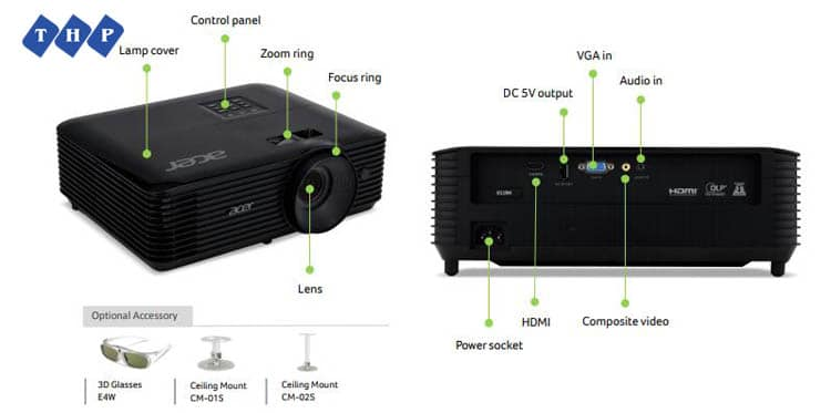 1-may chieu Acer X118HP-tanhoaphatcorp.vn
