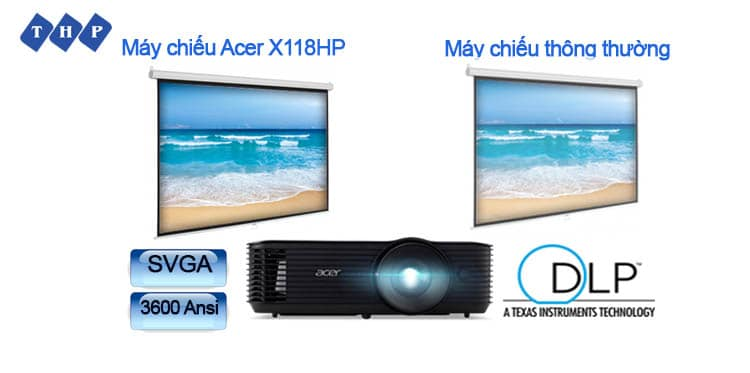 hinh anh chan thuc ro net-may chieu Acer X118HP tanhoaphatcorp.vn