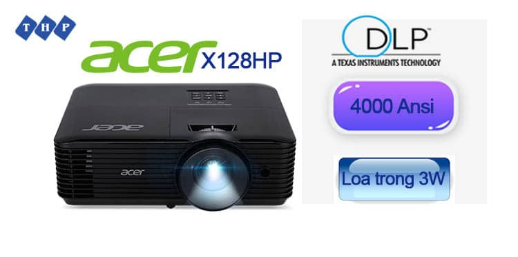 loa trong 3W-may chieu Acer X128HP-tanhoaphatcorp.vn