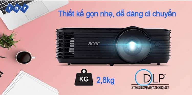 thiet ke gon nhe-may chieu Acer X118HP tanhoaphatcorp.vn
