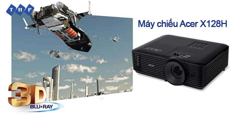ho tro xem phim 3D-may chieu Acer X128H tanhoaphatcorp.vn