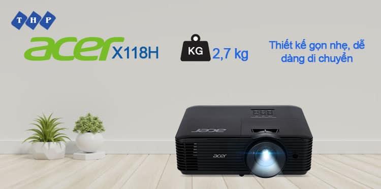 thiet ke nho gon-may chieu Acer X118H-tanhoaphatcorp.vn