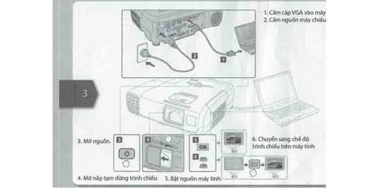 Ket noi may chieu Epson EB-X05