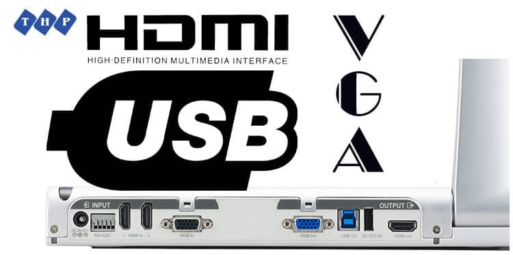 Đa dạng các cổng kết nối máy chiếu vật thể Elmo PX-10